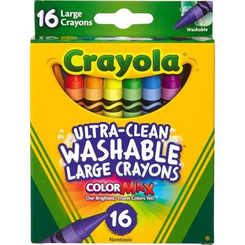 Crayola Ultra-Clean Washable Large Crayons 16pcs-523281