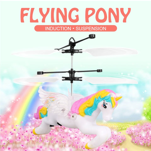 Infrared Induction Unicorn Flying Pony