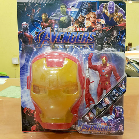 Marvel Avengers Hero - Iron Man Figure With Mask (2in1)