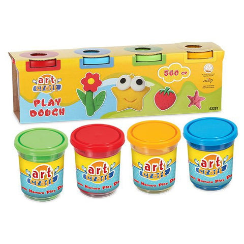 Image of Dede Art Craft Play Dough 4 Tub Pack