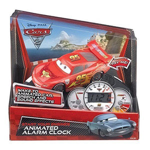 Disney Pixar Cars Animated Alarm Clock