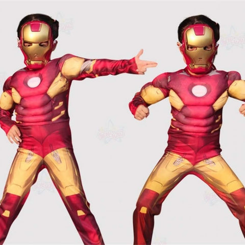 Image of Iron Man Muscle Costume with Mask