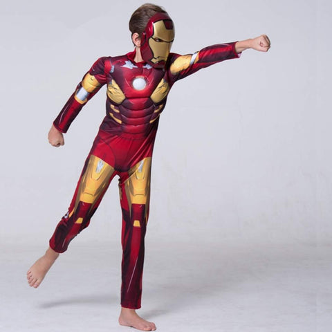 Image of Iron Man Muscle Costume with Mask Toyzone