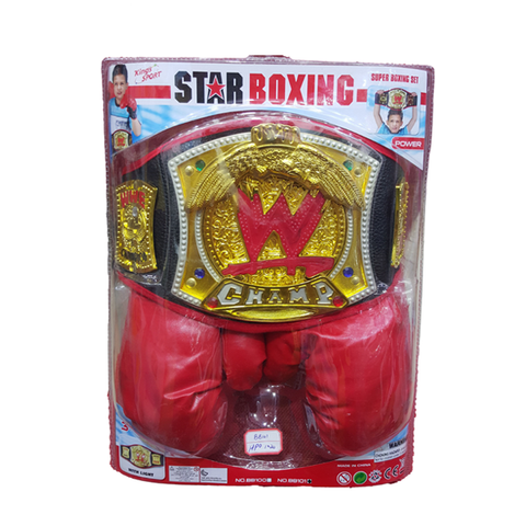 Image of WWE Belt with Boxing Gloves