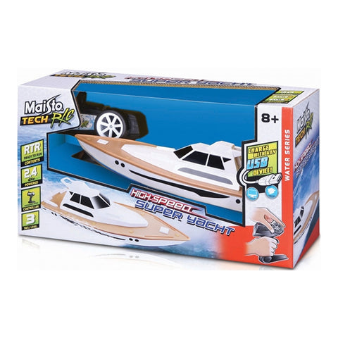 Maisto R/C Speed Boat Super Yacht White and Brown