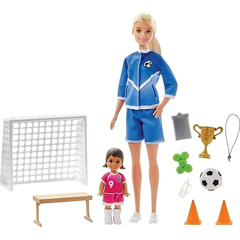 Barbie Soccer Coach Playset with Accessories - TZP1