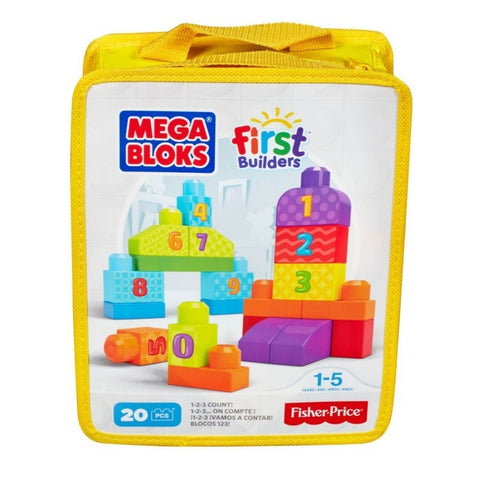Mega Bloks First Builders 123 Count-CNH08