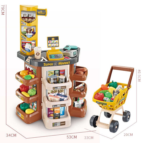 Image of Home Supermarket With Cash Register