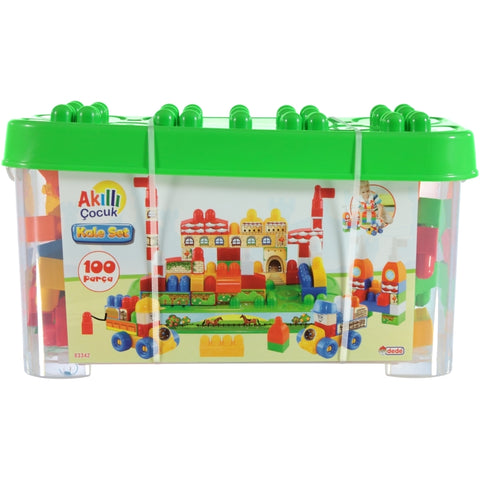 Image of Dede Brio Blocks Castle Set 100 Pieces