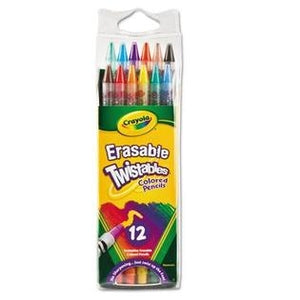 Crayola Twistable Colored Pencils, 12 Assorted Colors-687508