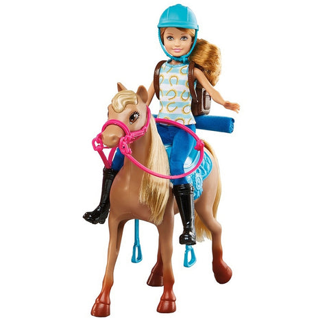 Image of Barbie Pink Passport Ranch Set With 3 Dolls & Horses