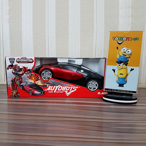 Transforming Autobot 2.4G RC Robotic Bugatti Car
