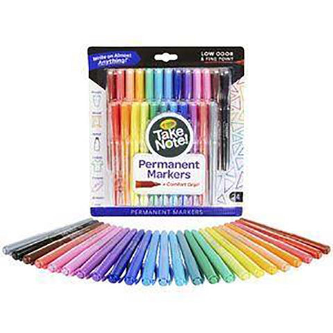 Crayola Take Note Permanent Markers 24 Pack