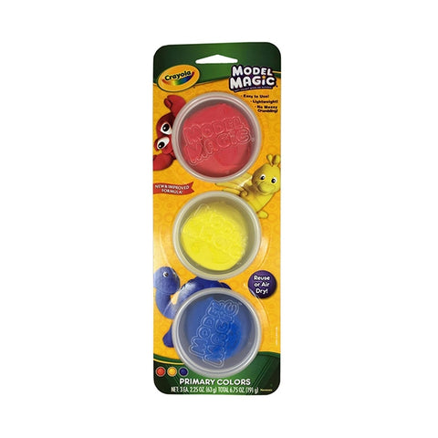 Image of Crayola Model Magic Craft Dough 3 Pots Primary Colours-236018