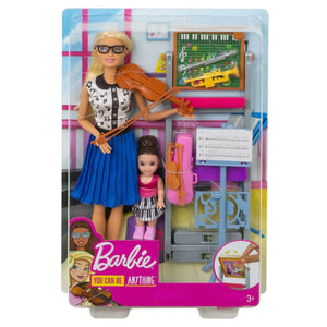 Barbie Careers Music Teacher Doll & Student Doll Playset FXP18 (DHB63)