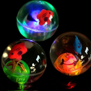 Image of LED Flashing Bouncy Crystal Balls for Kids (Pack of 3)