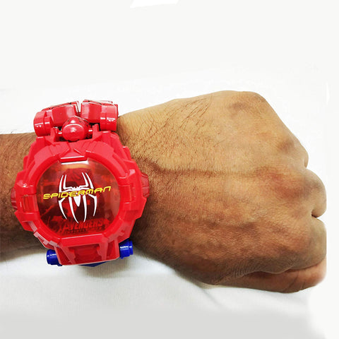 Image of Super Hero Deformation Wrist Watch - Spiderman