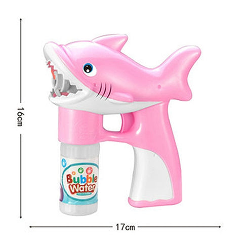 Shark Bubble Gun with Lights and Sound