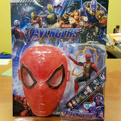 Image of Marvel Avengers Hero - Spider Man Figure With Mask (2in1)