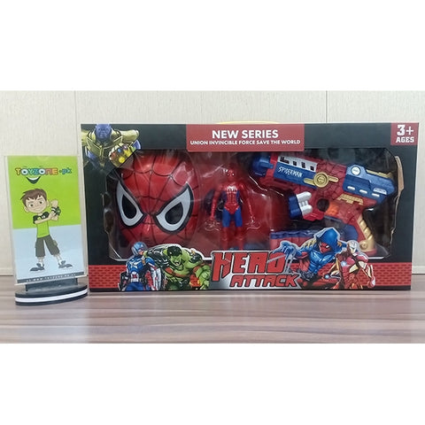 Image of Spideman Action Figure 3 in 1 Playset