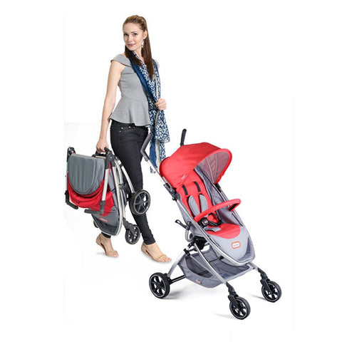 Little Likes Stroller Red And Grey
