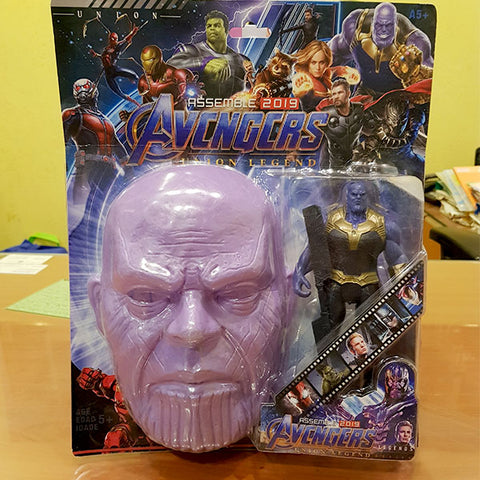 Marvel Avengers Hero - Thanos Figure With Mask (2in1)