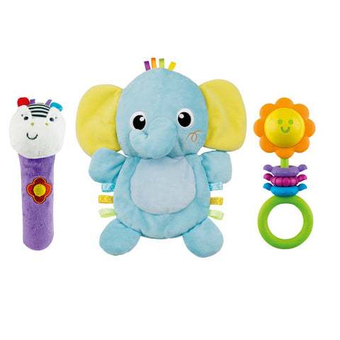 Image of Winfun Elephant Comforter Rattle Set