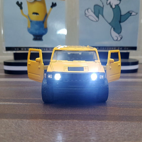 Image of Diecast Car Hummer With Light & Sound-F1102-1M