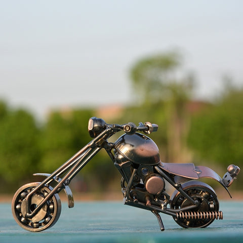 Image of Handcraft Metal Art Chopper Style Motorcycle (S