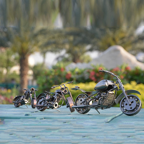 Image of Handcraft Metal Art Chopper Style Motorcycle (L)