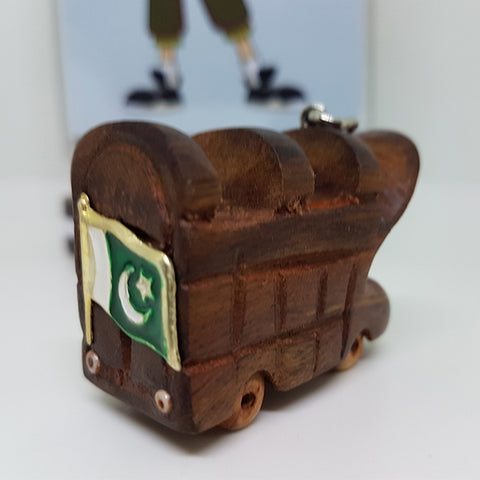 Image of Handcrafted Wooden Truck Keychain