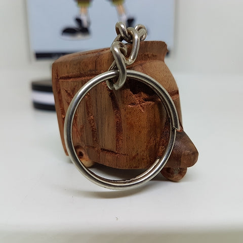 Image of Handcrafted Wooden Riksha Keychain