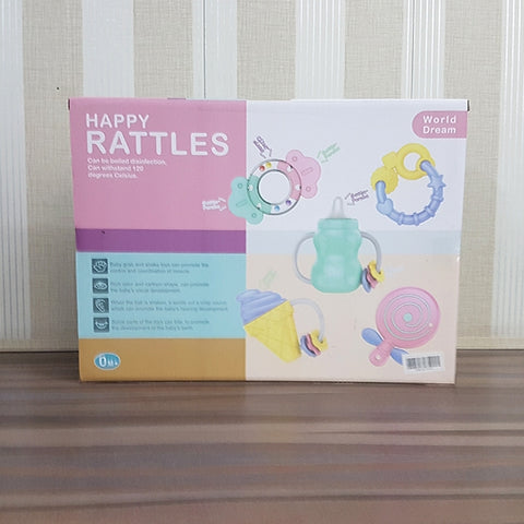 Huanger Happy World Baby Rattles 5 Piece Set
