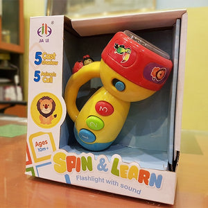 Spin & Learn Flashlight With Sound-685A