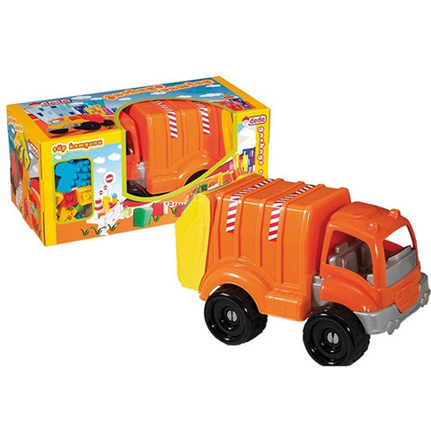 Image of DEDE Garbage Truck With Blocks