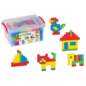 DEDE Tik Tak Puzzle Blocks Box 62 Pieces-YT-3148