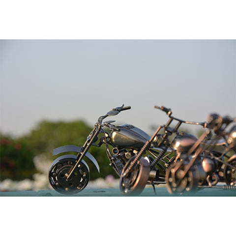 Handcraft Metal Art Chopper Style Motorcycle (S)