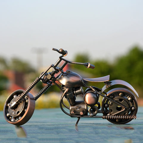 Image of Handcraft Metal Art Chopper Style Motorcycle (M)
