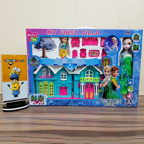 Frozen Fever Doll House With Frozen Doll-384