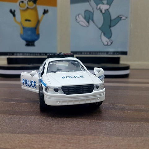 Image of Diecast Police Car With Light & Sound