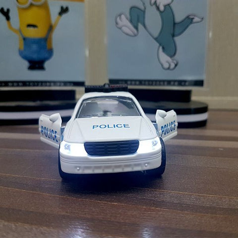 Image of Diecast Police Car With Light & Sound-F1105-1M