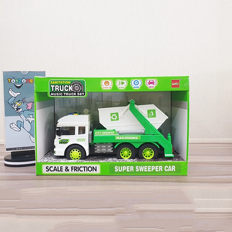 Friction Super Sanitation Truck With Light & Sound-06620-2884
