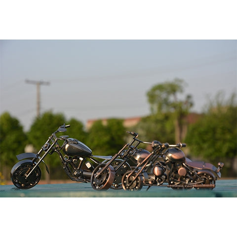 Handcraft Metal Art Chopper Style Motorcycle (L)