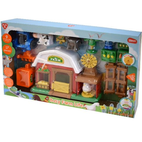 Playgo-Cheerful Farm With 17 Piece 9869