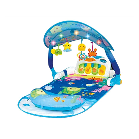 WinFun Hooded Playmat With Foot Paino-0860