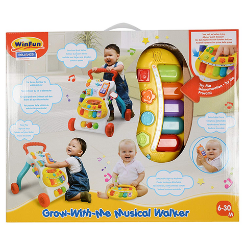Image of Winfun Grow with Me Musical Walker