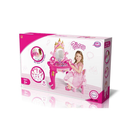 Girls Toy Mirror Dressing Table Kids Makeup Set