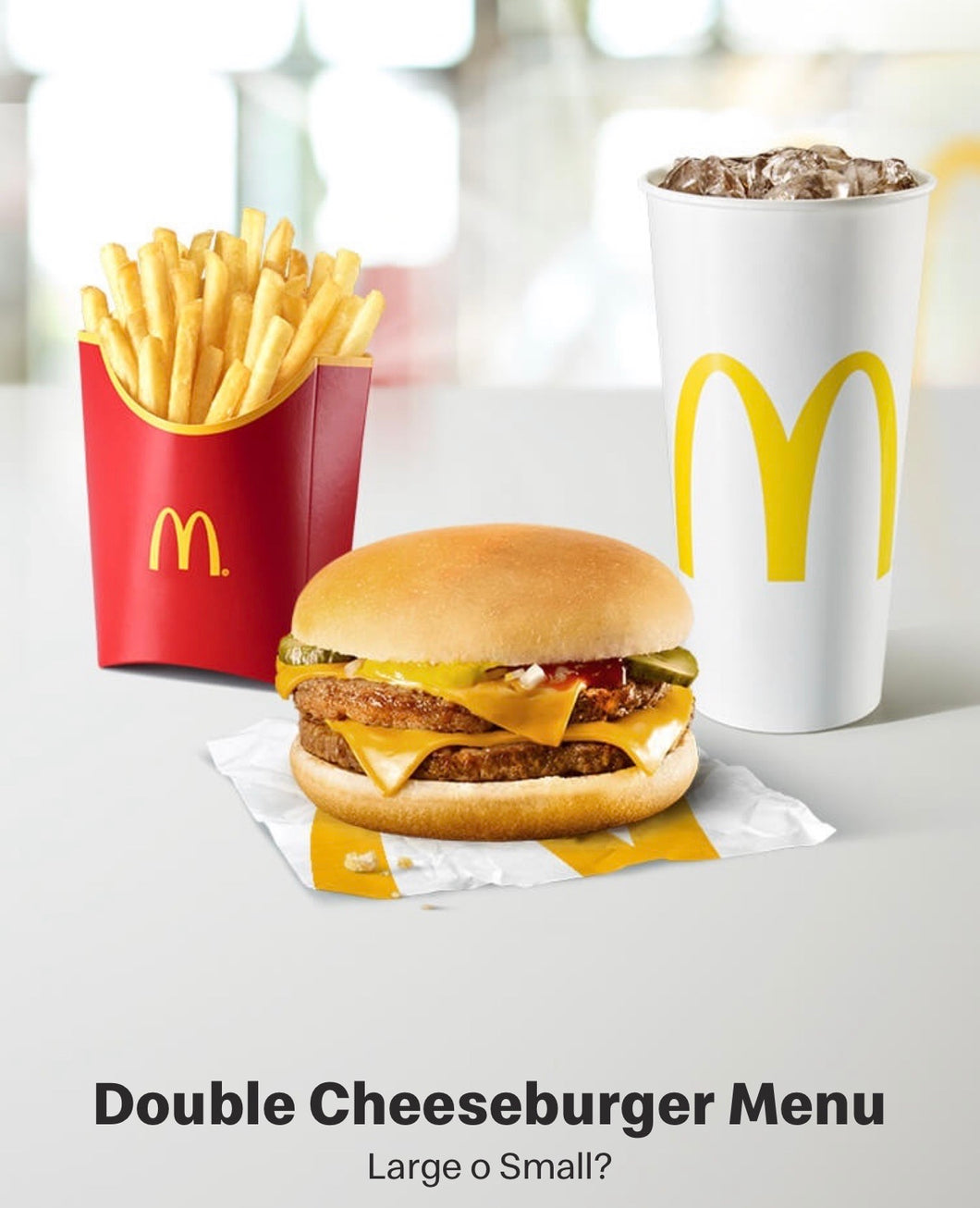 Double Cheeseburger Menu H24 - FOR ME H24