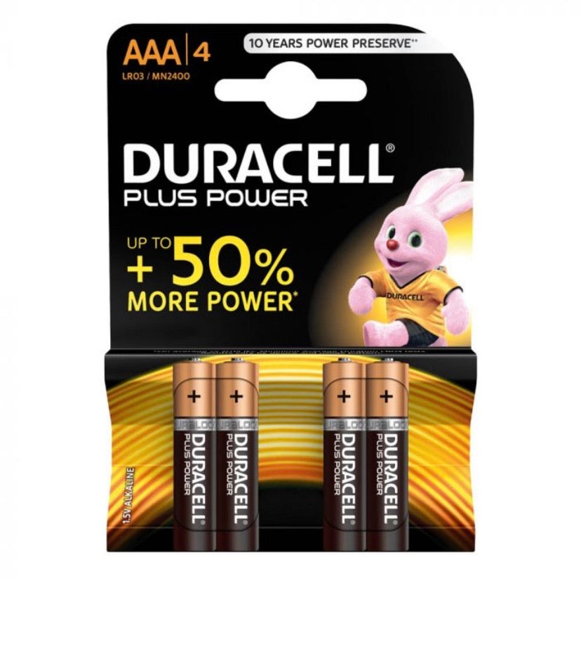 Batterie-Pile Duracell (AAA) per Dispositivi Elettronici H24 - FOR ME H24