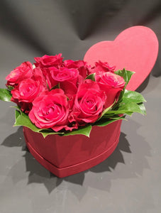 9 Rose Box cuore H24 - FOR ME H24
